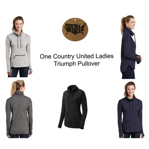 One Country United Ladies Triumph Cowl Neck Pullover