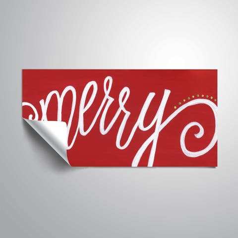 ArtWall Merry Red Removable Wall Art Mural