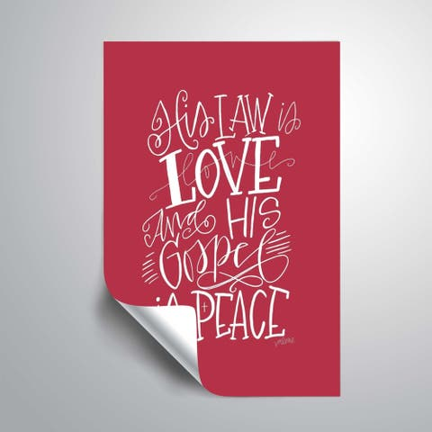 ArtWall As I Love You Removable Wall Art Mural