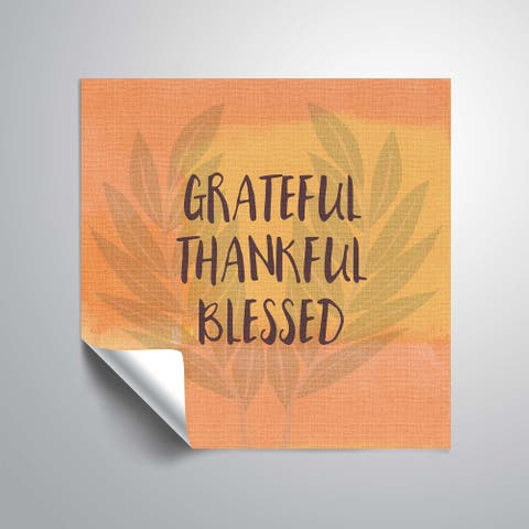 ArtWall Grateful Thankful Blessed Removable Wall Art Mural