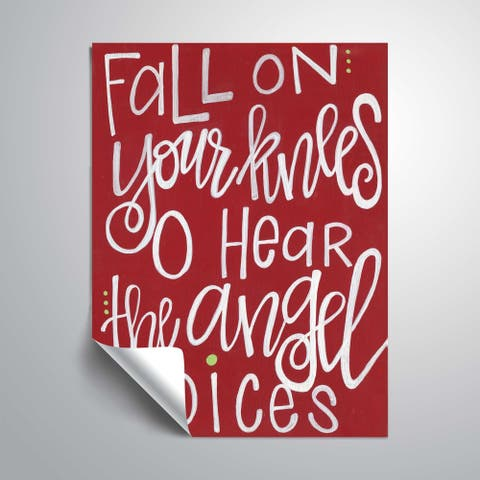 ArtWall Fall on your Knees Red Removable Wall Art Mural