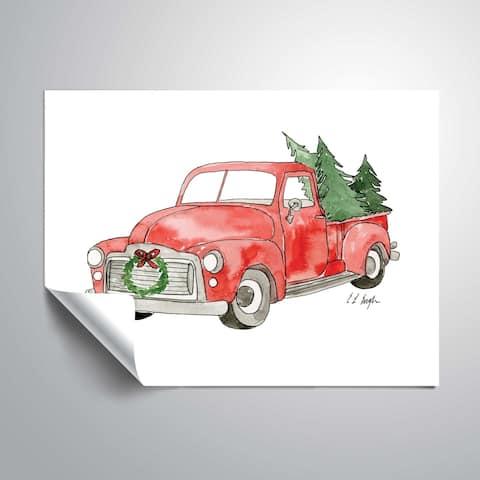 ArtWall Christmas Truck II Removable Wall Art Mural