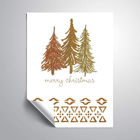 ArtWall Tribal Trees Merry Removable Wall Art Mural