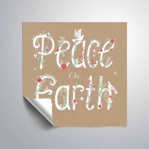 ArtWall Peace on Earth II Removable Wall Art Mural