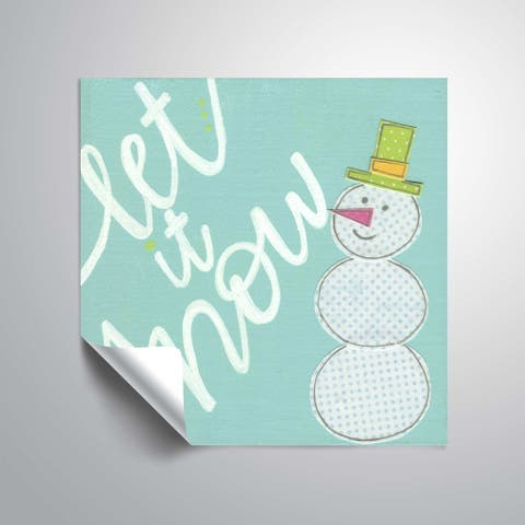 ArtWall Let it Snow Removable Wall Art Mural