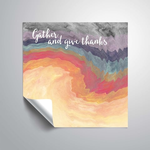ArtWall Gather and Give Thanks Removable Wall Art Mural
