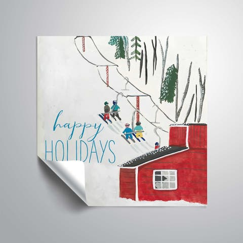 ArtWall Greetings from Maine II Removable Wall Art Mural