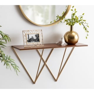 Kate and Laurel Melita Floating Wall Shelf Console Table - 32 inches