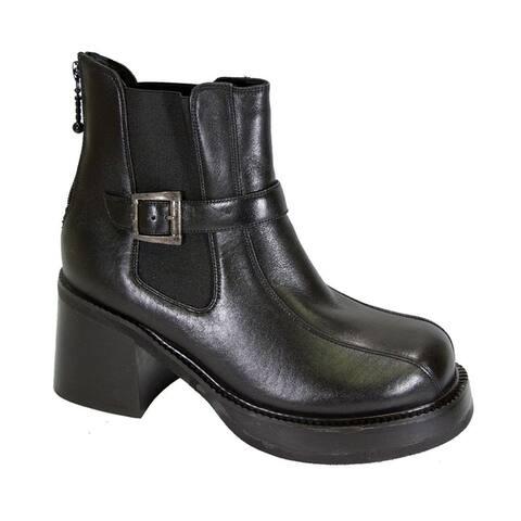 PEERAGE Paula Women Extra Wide Width Comfort Leather Dress Booties