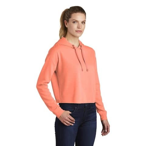 One Country United Ladies TriBlend Crop Hooded Pullover