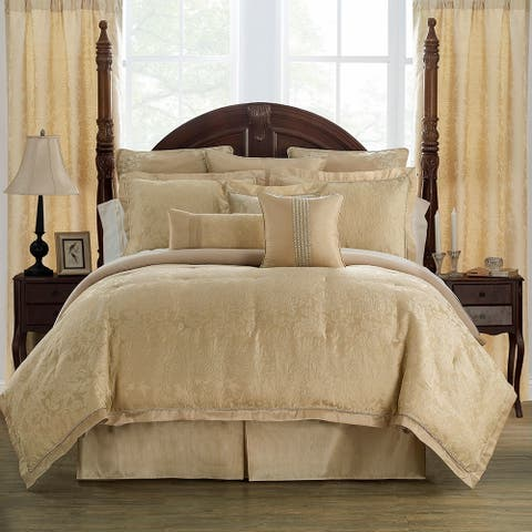 Marquis By Waterford, Isabella Gold Comforter Set
