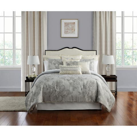 Marquis By Waterford, Lacy Silver 4 PC Comforter Set