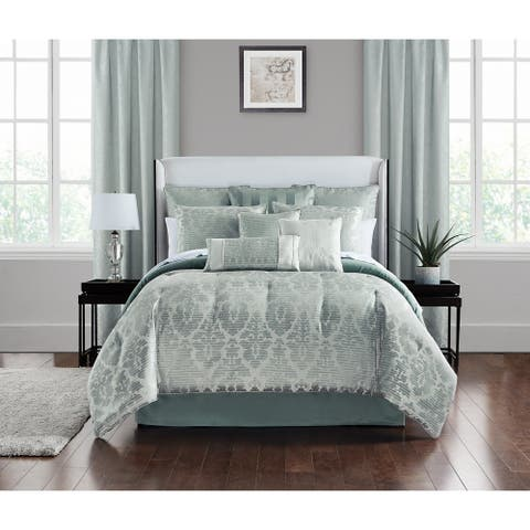 Marquis by Waterford Surrey Steel 4PC Comforter Set