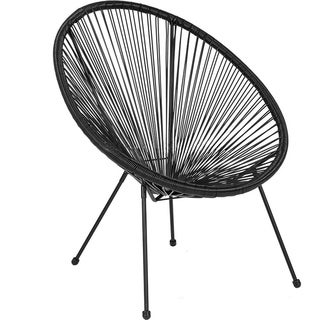 Porthos Home Lamia Round Saucer Accent Chair, PVC And Steel Frame