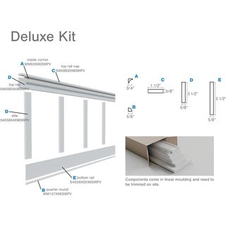 Adjustable Wall Panels, Deluxe Shaker 8' PVC Wainscoting Kit