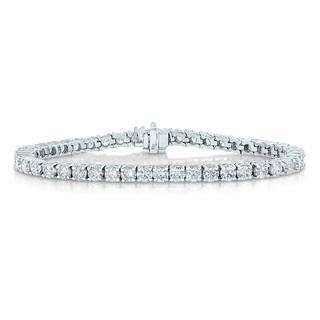 2 cttw Certified I1-I2 Clarity Diamond Bracelet 14K White Gold Color H-I