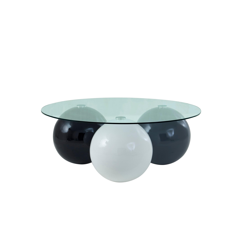 Global Furniture Usa Grey White And Black High Gloss Coffee Table