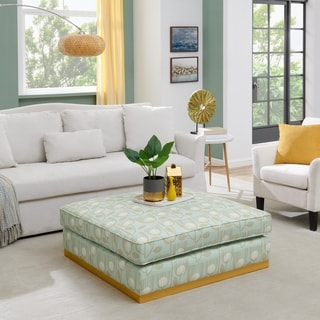 Porch & Den Square Upholstered Cocktail Ottoman