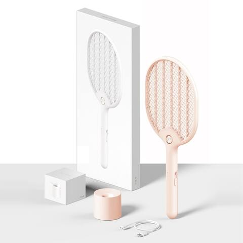 Modern Home e-Flyswatter Rechargeable Electric Fly Swatter with Flashlight