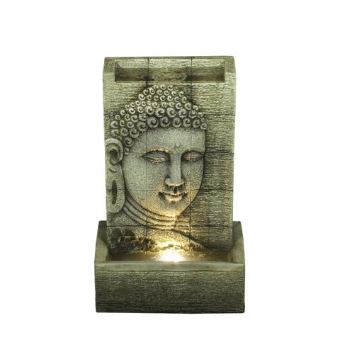 Zen Buddha Tabletop Fountain with LED lights
