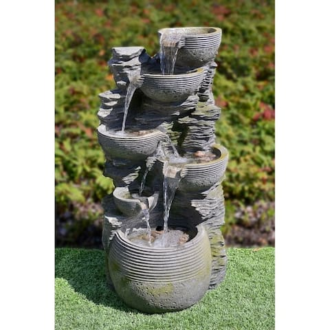 Cresha 6-tiered Outdoor Cascading Fountain by Havenside Home