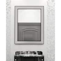 Copper Grove Niksic Brushed Silvertone/Black Mirror