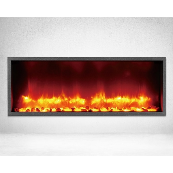 Strick & Bolton Lehto Built-in 35-inch LED Electric Fireplace
