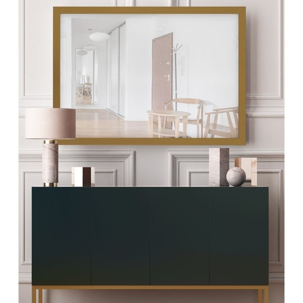 Silver Orchid Kellermann Copper Gold Frame Mirror
