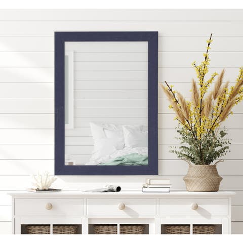 Silver Orchid Deste Navy Frame Mirror