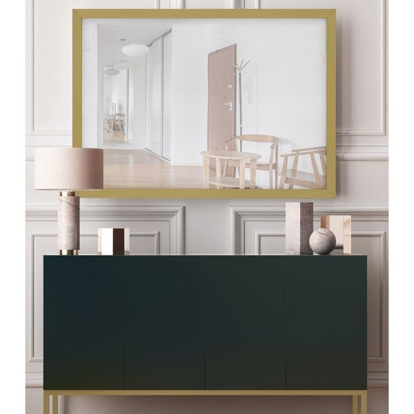 Hitchcock Butterfield Riviera Champagne Gold Mirror