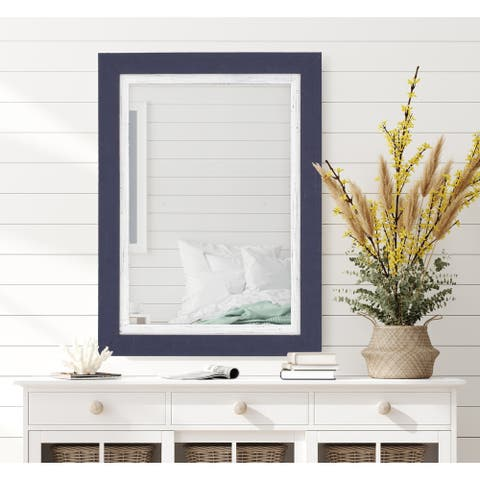 Copper Grove Herceg Navy and White Mirror