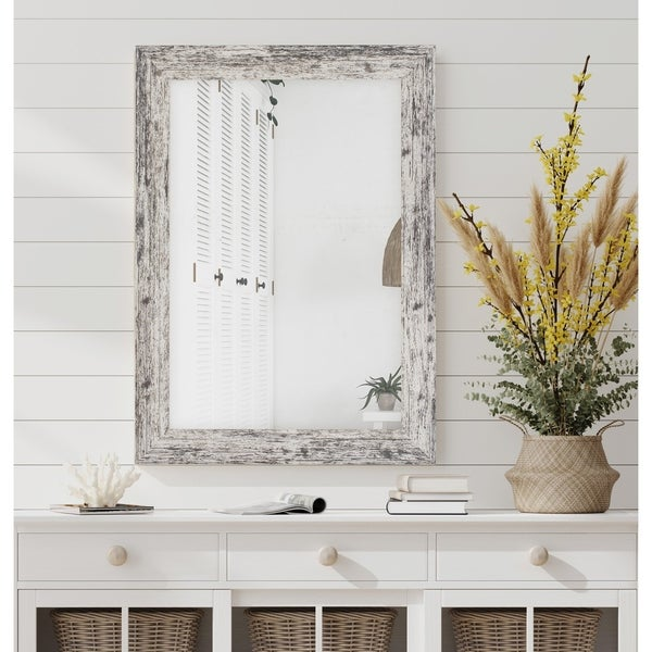 Hitchcock Butterfield Rustic Ranch White Mirror
