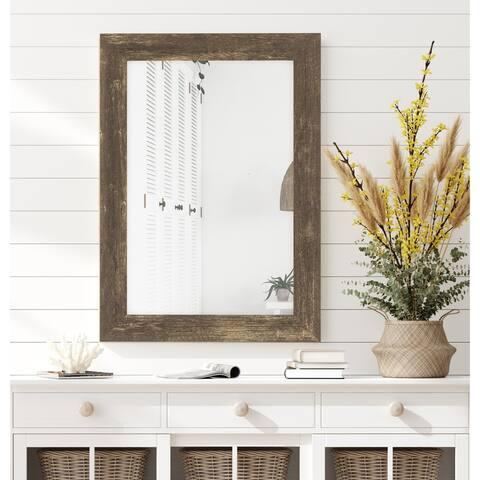 The Gray Barn Riviera Farmhouse Brown Mirror
