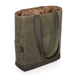 Link to 3 Bottle Insulated Wine Cooler Bag - Khaki Waxed Canvas Similar Items in Picnic