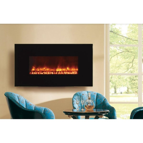 Dynasty Fireplaces 50 in. LED Wall Mount Electric Fireplace