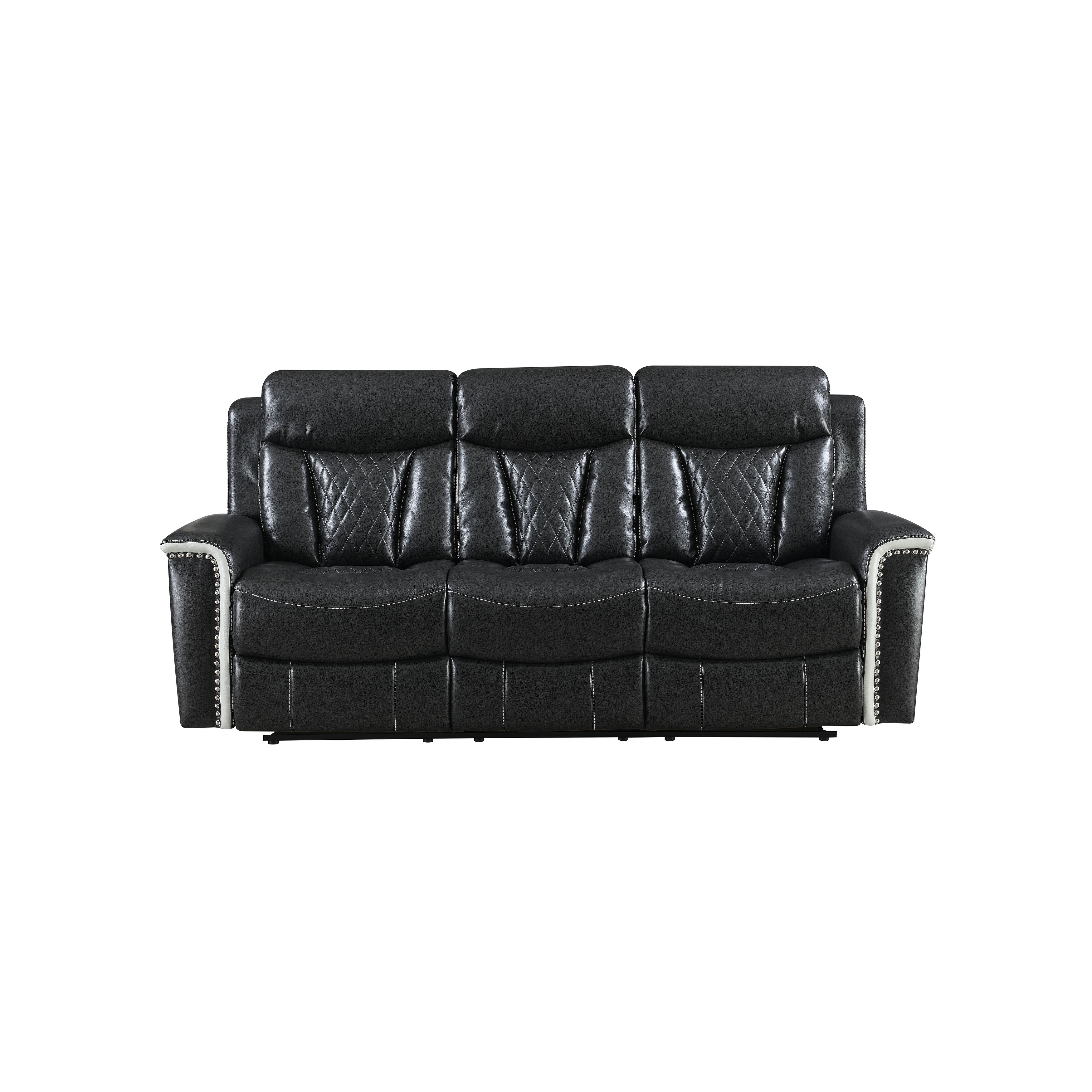Shop Global Furniture Usa Two Tone Power Reclining Sofa