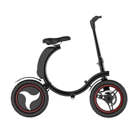 Folding Electric Bicycle GoSpider 350W with A Removable 36v 6AH Lithium-Ion Battery Up to 19MPH