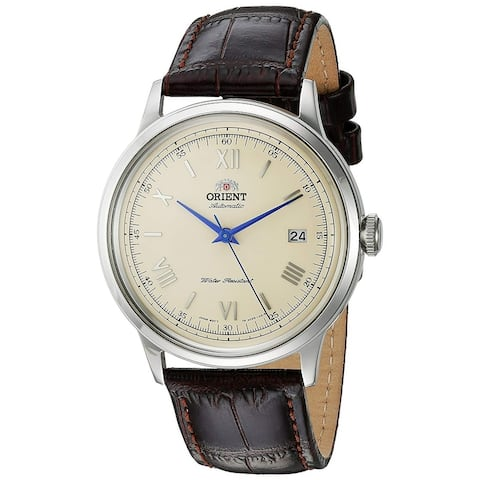 Orient Men's FAC00009N0 Bambino Automatic Brown Leather Watch