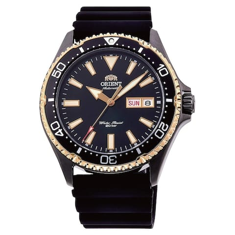 Orient Men's RA-AA0005B19B Mako III Black Rubber Watch