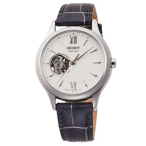 Orient Women's RA-AG0025S10B Open Heart Grey Leather Watch