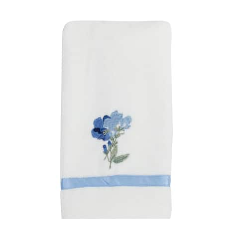 Croscill Charlotte Floral Embroidered Fingertip Towel