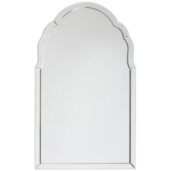 Arch Elegant Beveled Wall Mirror II Bathroom, Vanity, Bedroom Mirror - Clear - 24 x 40