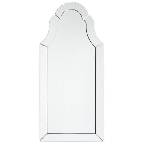Arch Elegant Beveled Wall Mirror I Bathroom, Vanity, Bedroom Mirror - Clear - 20 x 44