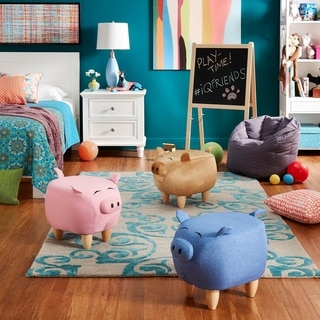 Shop Burton Velvet Pig Ottoman By Christopher Knight Home