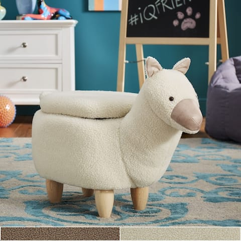 iQ Friends Llama Storage Ottoman by iNSPIRE Q Junior