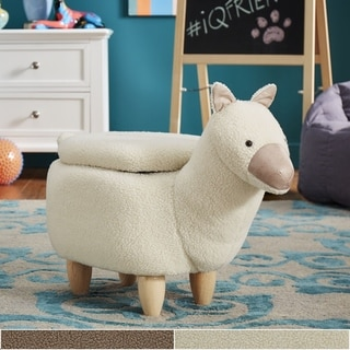 Link to iQ Friends Llama Storage Ottoman by iNSPIRE Q Junior Similar Items in Kids' Ottomans & Gliders