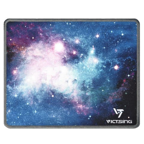 VicTsing Gaming Mouse Mat Pad Stitched Edges Mouse Pad with Premium-Textured Surface Non-slip Rubber Base - 10.2?8.6?0.12 in