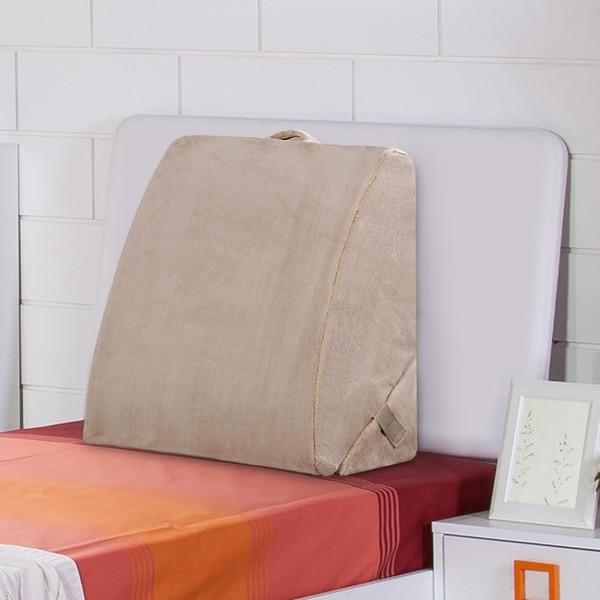 Sleeplanner Foam Bed Wedge Pillow, Beige. Opens flyout.