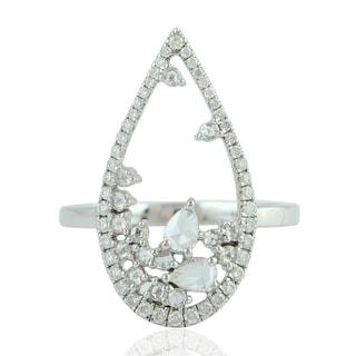 18Kt Gold Diamond Designer Ring Indian Uncut And Rose Cut Diamond Jewelry