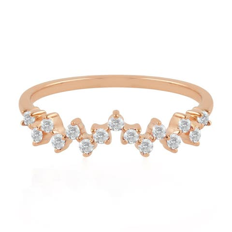 18kt Gold Natural Diamond Ring Jewelry With Jewelry Box